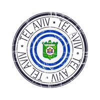City of Tel Aviv, Israel vector stamp