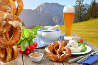 Bavarian beer brunch outside