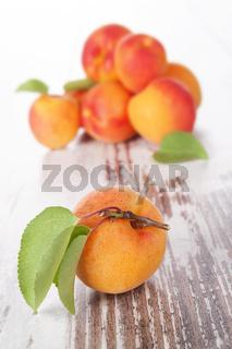 Ripe apricots.