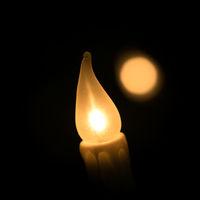 Kerze einer Lichterkette