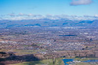 View over Christchurch in New Zealand