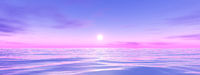 pink and blue sunset wide background
