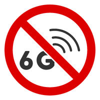 Flat Raster No 6G Signal Icon
