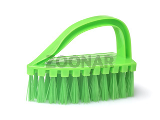 Green plastic clothes cleaning brush