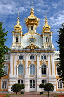 Church of St. Peter and Paul at Peterhof Palace. St. Petersburg