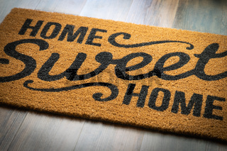 Home Sweet Home Welcome Mat Resting on Floor