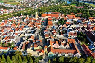 Luftbild von Kelheim