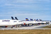 Lufthansa aircraft in Frankfurt