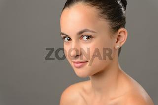 Beauty face teenage girl cosmetics skin care