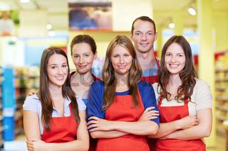 Starkes Supermarkt-Team