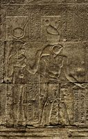 Hieroglyphic carvings in ancient temple