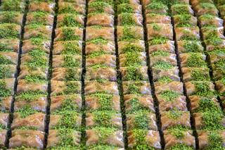 Traditional arabic/turkish sweets with walnuts - baklava
