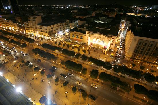 TUNISIA TUNIS CITY HABIB BOURGUIBA ROAD
