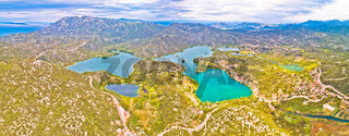 Bacina lakes landscape aerial panoramic view