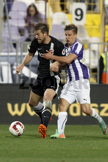 Ujpest vs. DVTK OTP Bank League football match