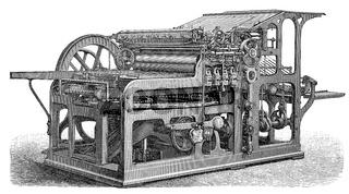 Industrial printing press, 19th Century