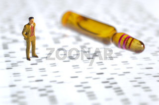 man with dna film