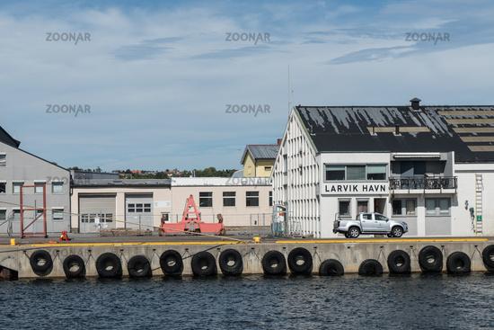 Grain silo in the port of Larvik