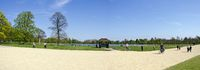 Sunny day at the pond of Kensington Garden