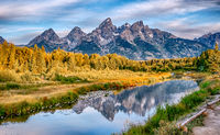 grand teton national park in wyoming early morning