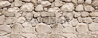Old stone wall banner texture
