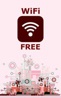 Wifi Free Sign With Square Style Icon on Hi-Tech Background