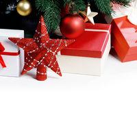Christmas gifts and star
