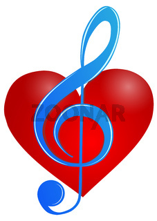 Heart and treble clef