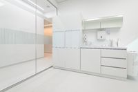 White medical furniture in dentistry office