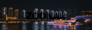 Panorama of Chongqing city at night