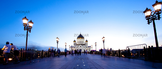 Panorama Cathedral of Christ the Saviour church at