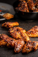 Grilled chicken wings.