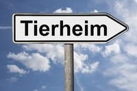 Wegweiser Tierheim | signpost Tierheim (Animal shelter)