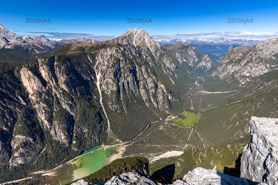 View from Monte Piana into Val di Landro, Dolomites