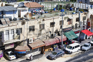 Jerusalem Israel. The busy streets of the old city