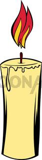 Candle icon cartoon