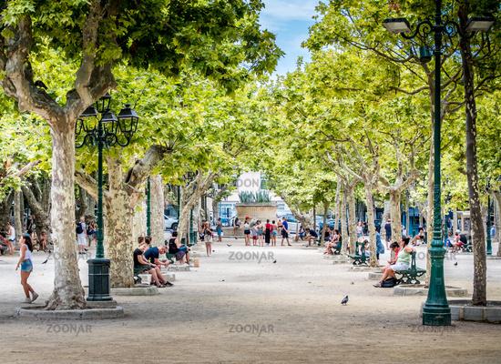 Place des Lices à Saint-Tropez en France