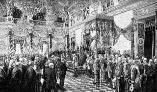 The opening of the German Reichstag, Emperor Wilhelm II., 1888, Berlin, Germany