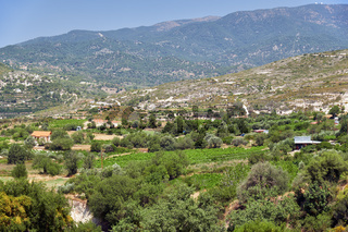 The countryside at the foot of Mount Troodos. Limassol. Cyprus