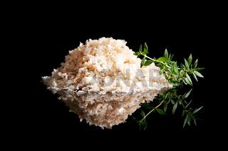 Sea salt heap isolated.