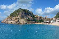 Tossa de Mar,Costa Brava,Catalonia,mediterranean Sea,Spain