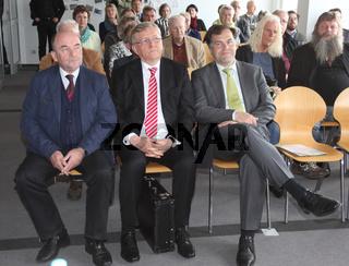 Rainer Eppelmann,Wolfgang Berghofer und Stephan Dorgerloh (SPD) Kultusminister von Sachsen-Anhalt