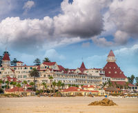 Hotel del Coronado at sunset in San Diego, CA