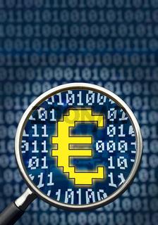 E-Commerce Eurozeichen, Hochformat