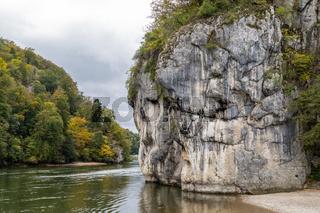 Danube valley at Danube breakthrough near Kelheim