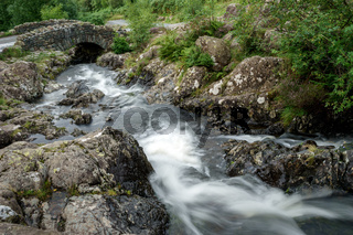 View of Ashness Bridge in the Lake District