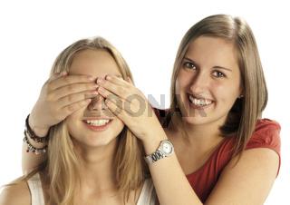 Freundinnen beim Rumalbern