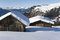 winter on the Seiser Alm