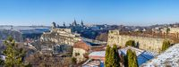 Kamianets-Podilskyi fortress on a sunny winter morning