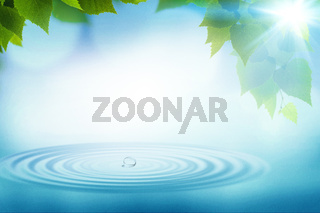 Summer rain, abstract environmental backgrounds for your design
